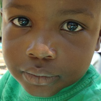 Face of young child in orphans program.