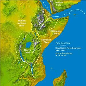 Map of geo-hydrolic activity around fault lines in Tanzania.